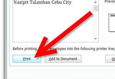 Як надрукувати текст на конверті допомогою Microsoft Word