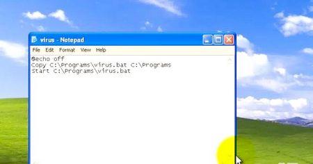 Як написати найпростіший вірус (черв'як) з кодом з двох рядків