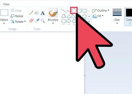 Як намалювати ідеальний коло в Microsoft Paint