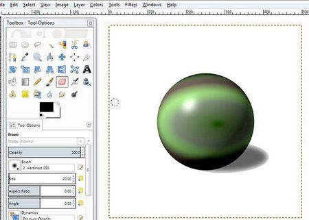 Як намалювати куля в GIMP