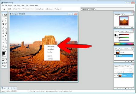 Як обрізати фотографію і одночасно змінити розмір в Adobe Photoshop 7