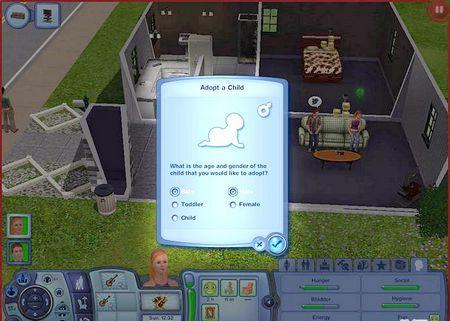 Як усиновити дитину в Sims 3