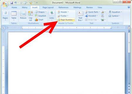Як вставляти номери сторінок в Microsoft Word 2007