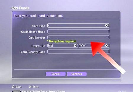 Як додати гроші в PSN аккаунт