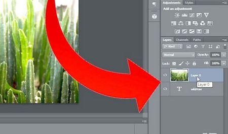 Як додати фотографію в текст в Photoshop