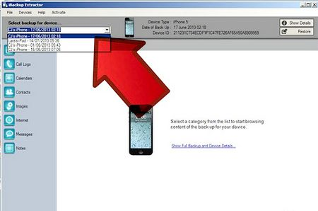 Як витягувати iPhone контакти, фотографії і повідомлення за допомогою iBackup Extractor