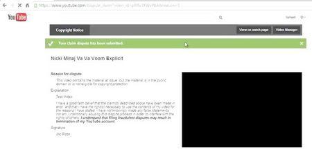 Як подати зустрічне повідомлення на скаргу про порушення авторських прав в YouTube