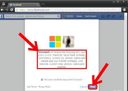 Як підключити аккаунт Microsoft до Facebook
