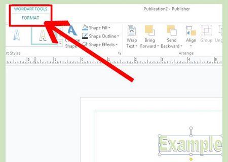 Як зробити дугу Word Art в Microsoft Office Publisher 2013